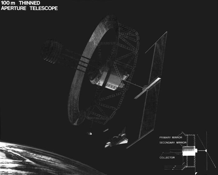NASA 100-meter Thinned Aperture Telescope concept