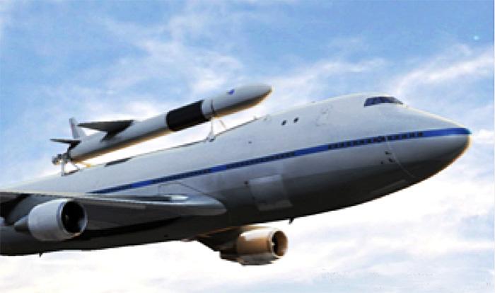 DARPA ALASA airborne rocket launch concept Boeing 747