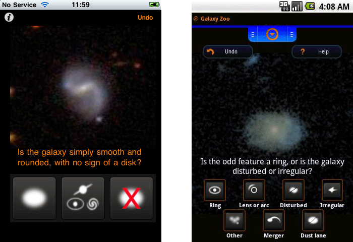 Galaxy Zoo iPhone and Android apps