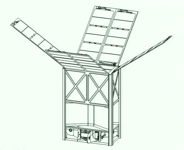 6U Interplanetary CubeSat concept