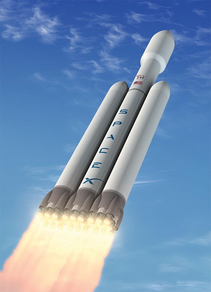 SpaceX Falcon Heavy launch vehicle commercial rocket