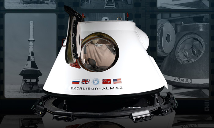 Excalibur Almaz RRV (Reusable Reentry Vehicle) space capsule