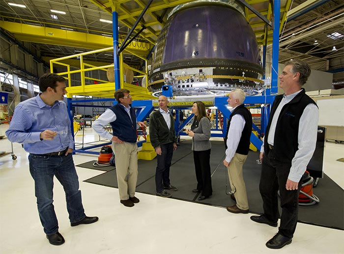 NASA Deputy Administrator Lori Garver Tours Blue Origin