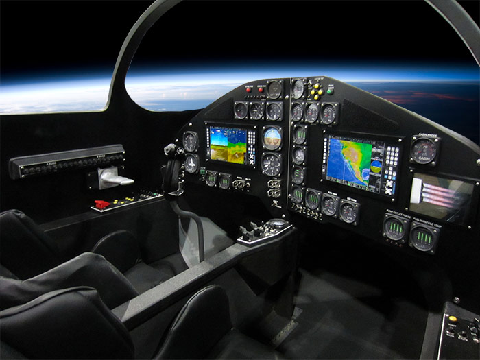 XCOR Lynx suborbital spacecraft cockpit mockup