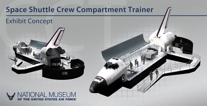 Shuttle Crew Compartment trainer exhibit planned for National Museum of the US Air Force