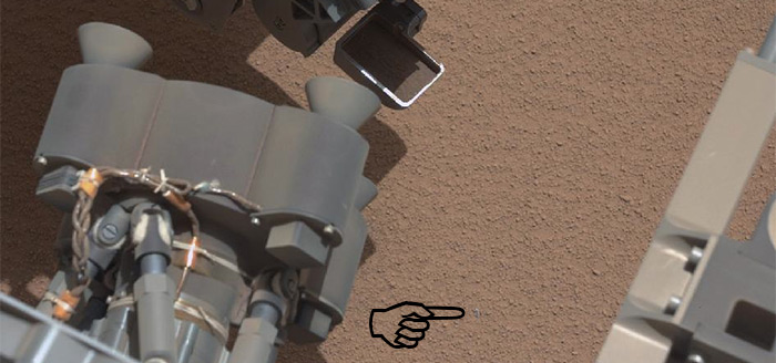 NASA Mars Science Rover Curiosity bright object