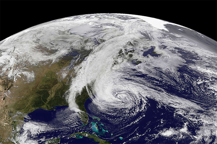 Hurricane Sandy -- weather satellite image