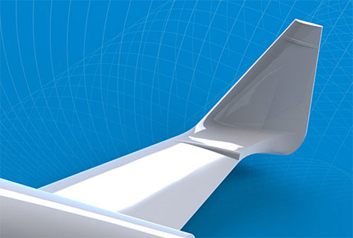 XCOR Lynx spacecraft wing