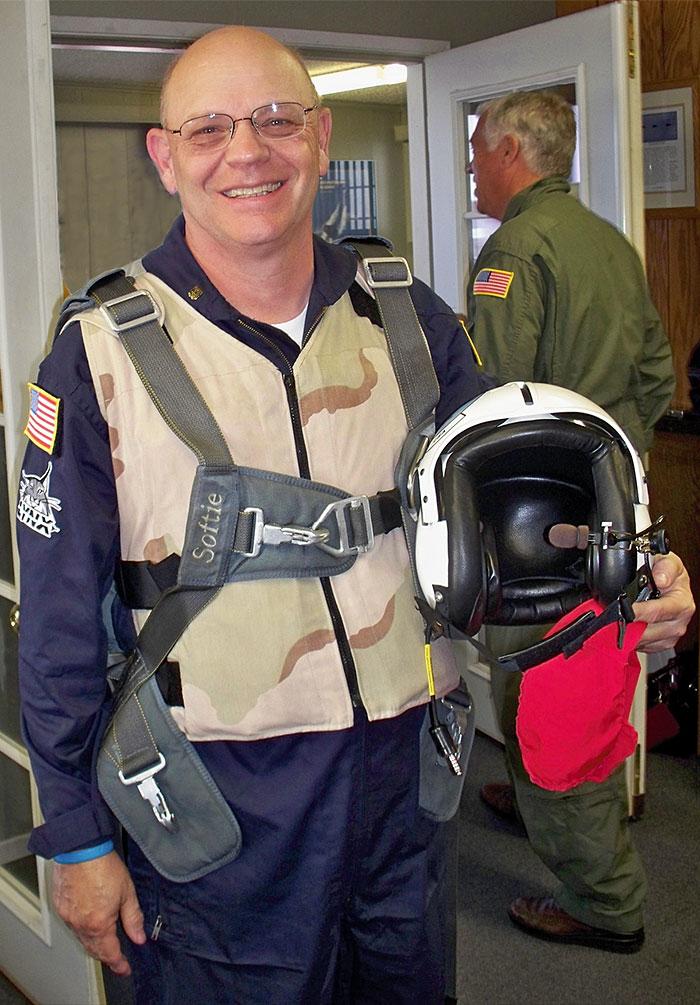 Citizen astronaut candidate Lt. Col. Steve Heck (USAF-ret.)