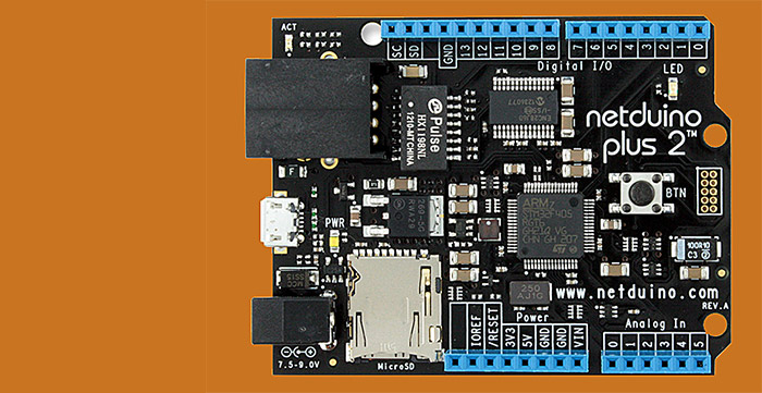 Netduino 2 Plus .NET-compatible microcontroller board