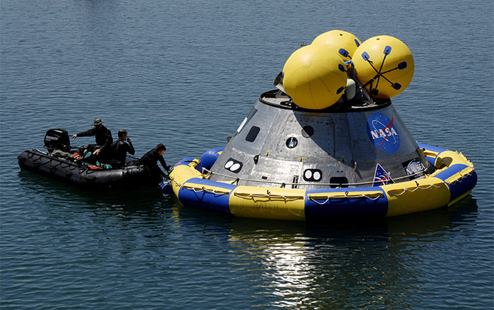 U.S. Air Force 920th Rescue Wing in NASA Orion space capsule recovery exercise