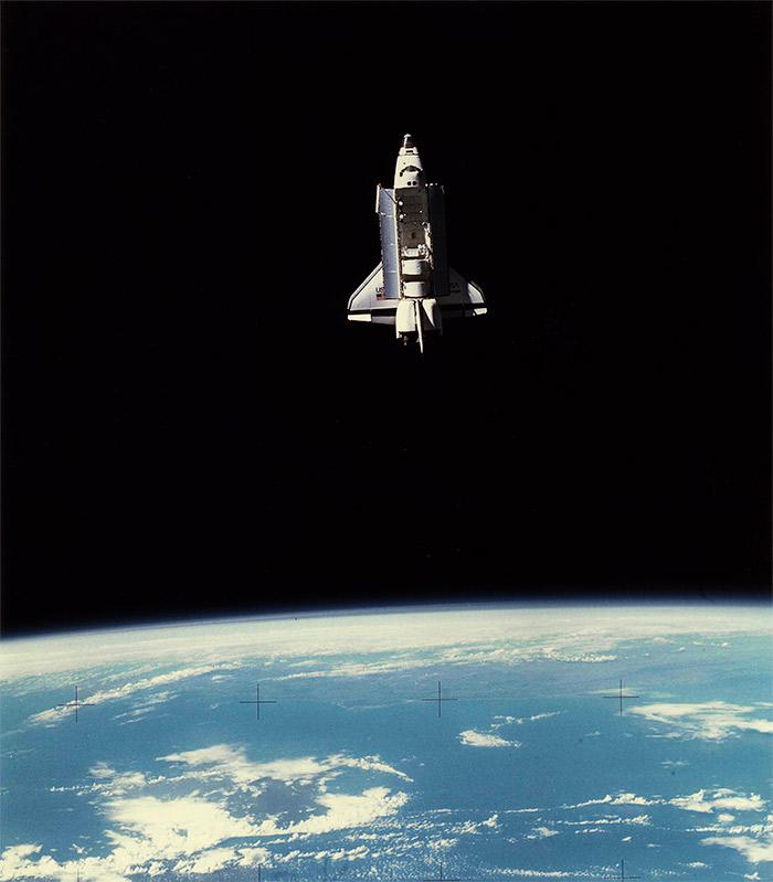 Space Shuttle Challenger in orbit