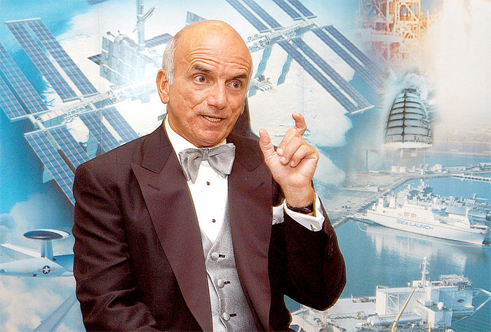 Dennis Tito, first citizen space explorer to visit the International Space Station