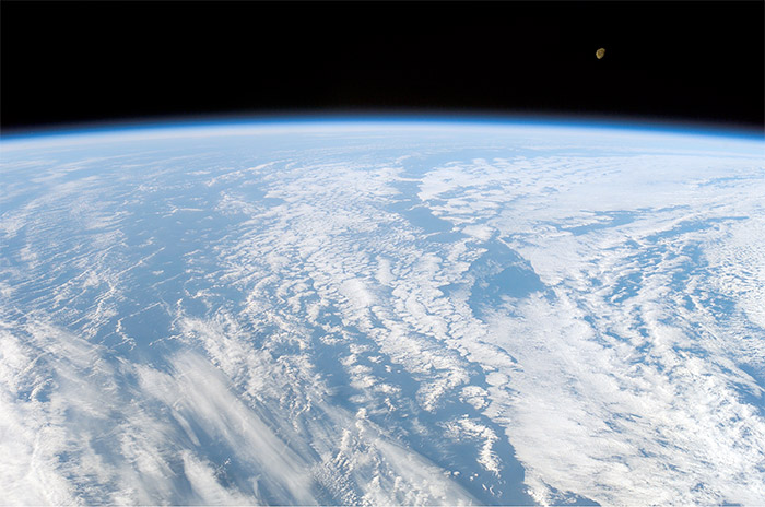 The Moon, photographed from Space Shuttle Columbia on STS-107