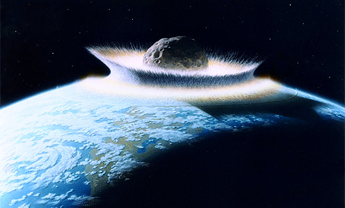 Very large asteroid impact, NASA artwork by Don Dixon