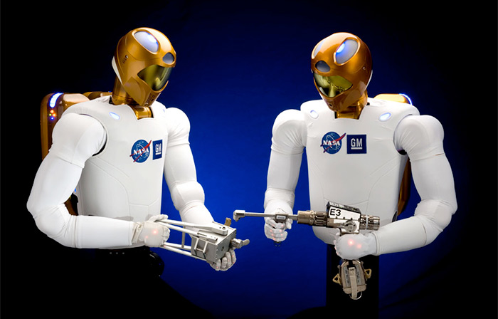 NASA robonaut (R2) robot for International Space Station (ISS)