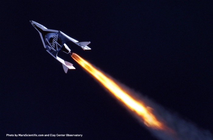 Virgin Galactic SpaceShip Two first powered flight test
