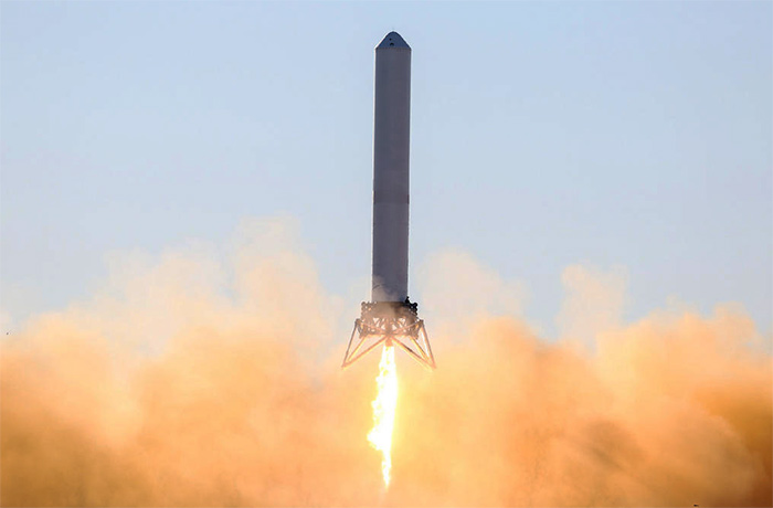 Space Exploration Technologies (SpaceX) Grasshopper VTVL reusable first-stage demonstrator