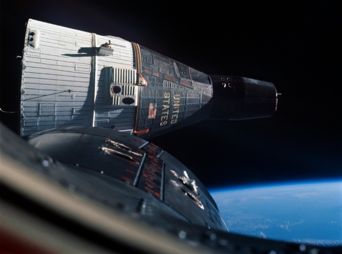NASA Gemini 6 and 7 rendezvous in Earth orbit