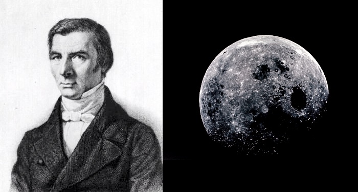 Claude Frédéric Bastiat (left) and the Moon (right)