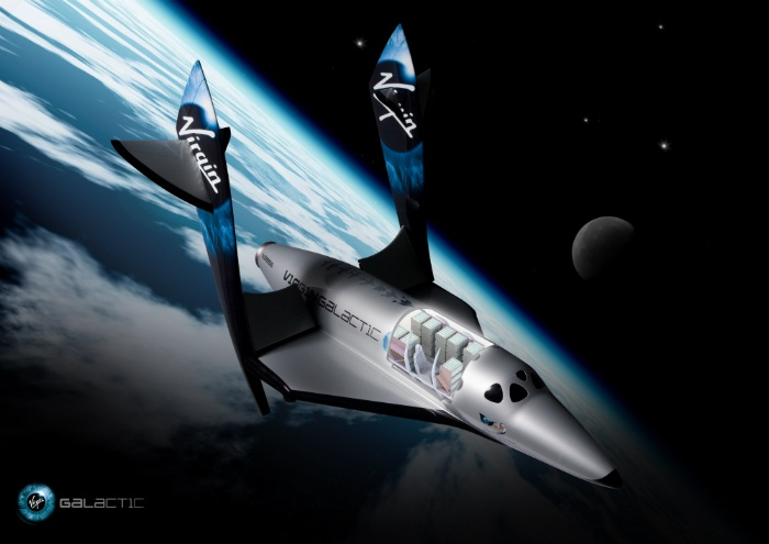 Virgin Galactic SpaceShip Two cutaway showing payload racks