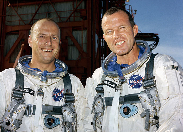 NASA Gemini 5 crew Gordon Cooper and Pete Conrad