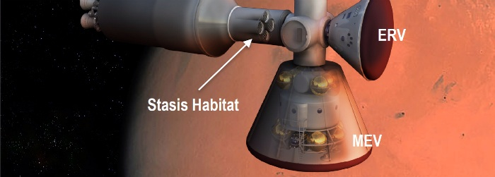 Stasis pods (habitat) for long-duration space exploration