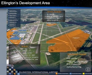 Proposed Ellington Spaceport -- available land