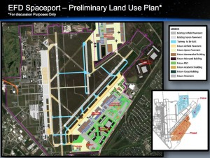 Ellington Spaceport -- proposed land use