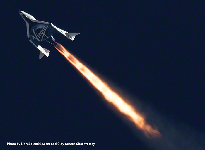 Virgin Galactic SpaceShip Two second powered test flight