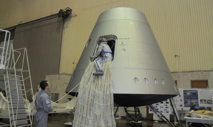 Russian New-Generation Advanced Manned Transportation Spacecraft mockup