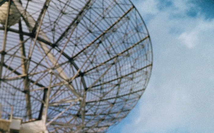 Radar-tracking  antenna at Cape Canaveral