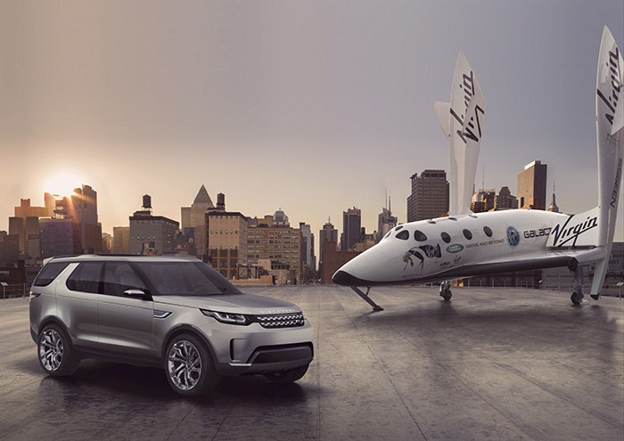 Virgin Galactic SpaceShip Two and Land Rover Discovery Vision Concept