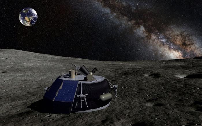 Astrobotic lunar lander on Moon (artist's concept)