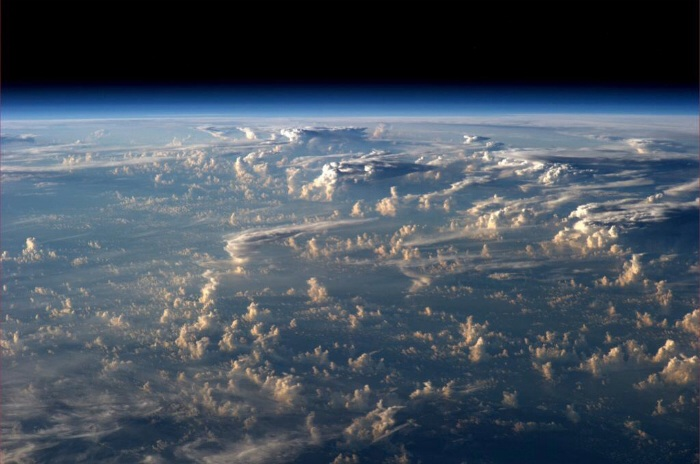 Earth's atmosphere as seen from space