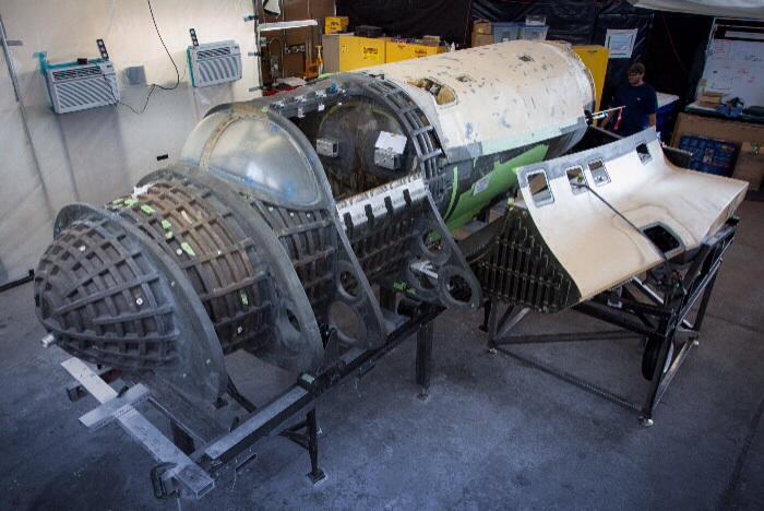 XCOR Lynx spacecraft under construction